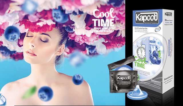 کاندوم کاپوت ۱۲ عددی سردکننده خاردار و شیاردار COOL TIME