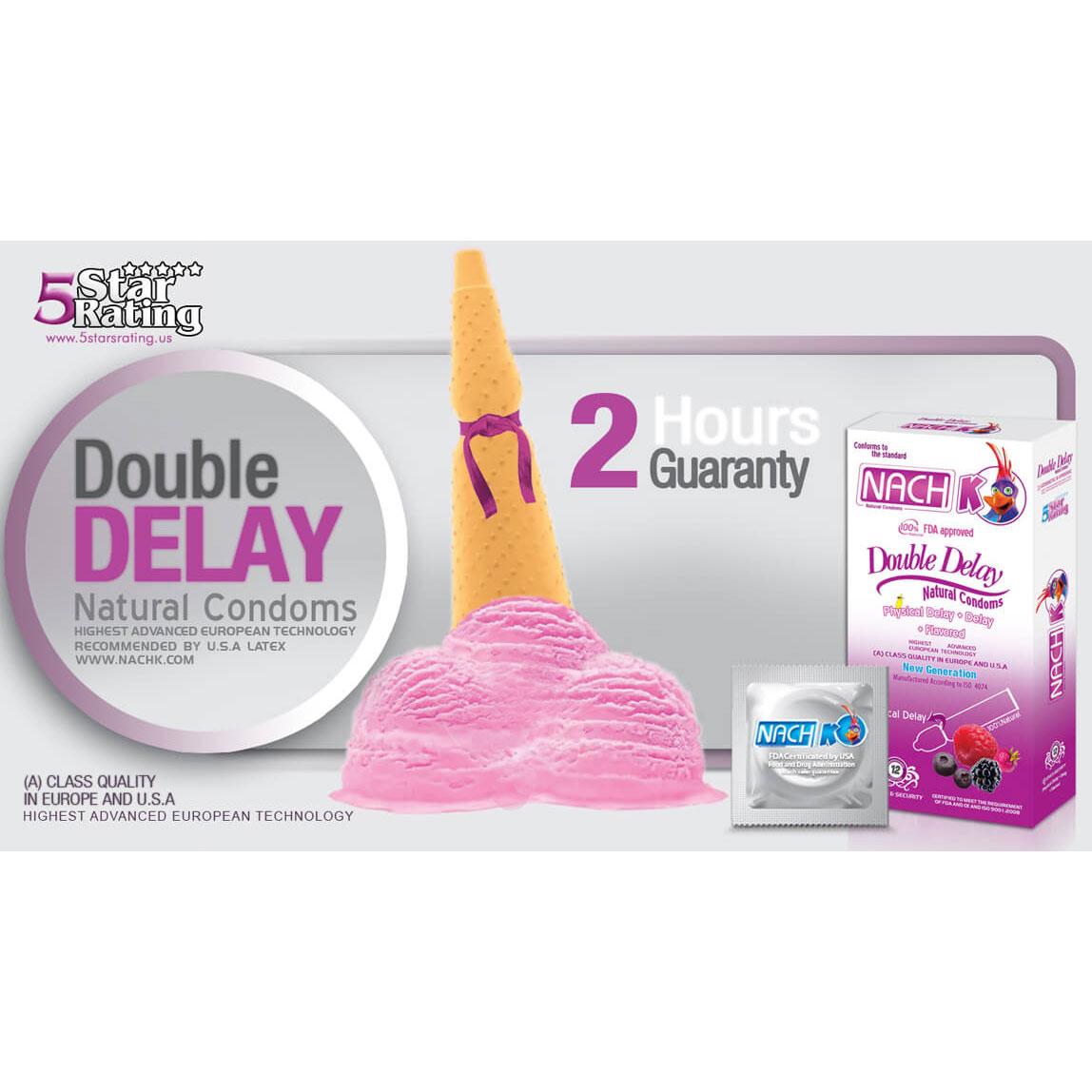 کاندوم تاخیری دابل دیلی NACH Kodex-Double Delay دو برابر تاخیر فیزیکی و گیاهی